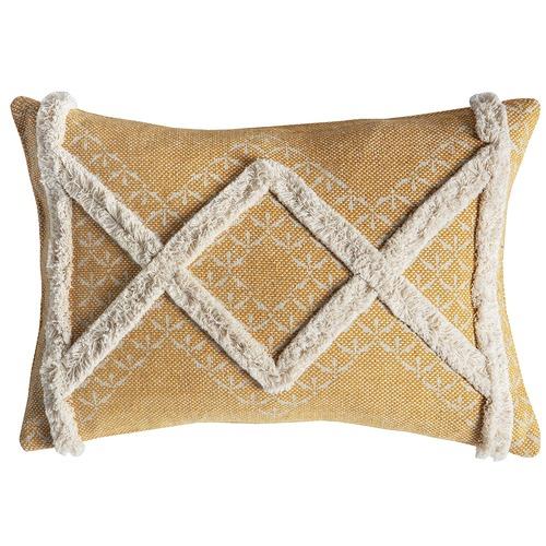 Bella Casa Ochre Gringo Tufted Cushion