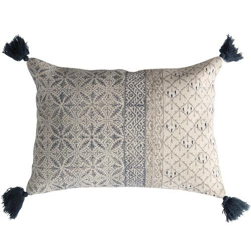 Bella Casa Slate Grey & Taupe Lobitos Cushion