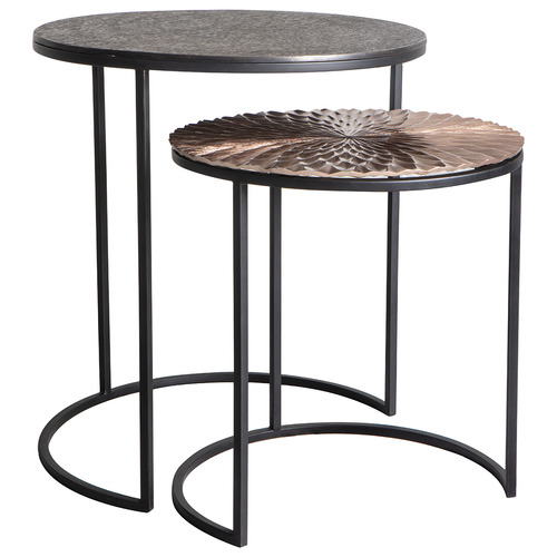 Bella Casa 2 Piece Limosa Metal Side Table Set