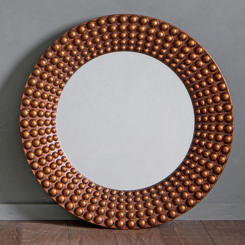 Bella Casa Ayrton Beaded Round Wall Mirror