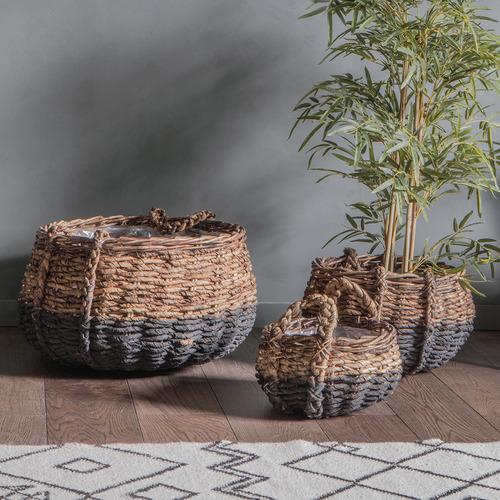 Bella Casa 3 Piece Bassi Woven Basket Set