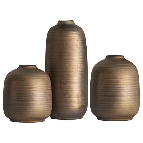 Bella Casa 3 Piece Copper Kesha Vase Set