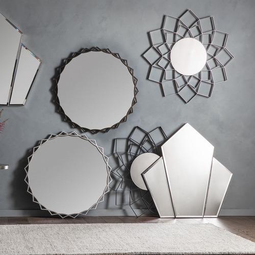 Bella Casa Chien Angled Diamond Wall Mirror