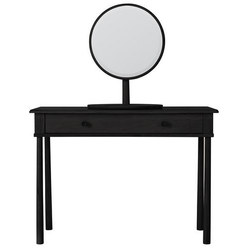 Bella Casa Sussman Round Oak Wood Table Mirror