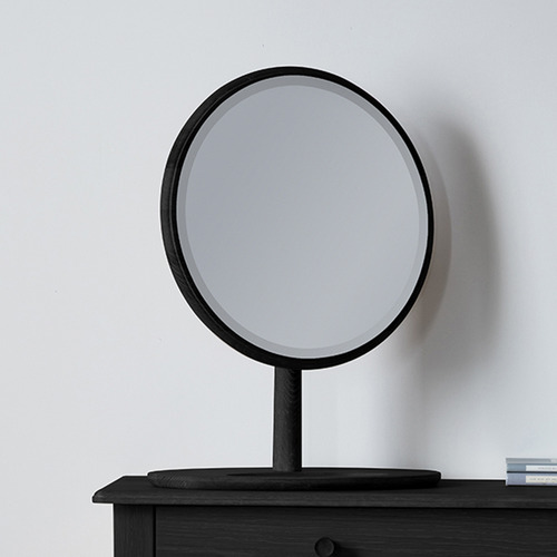 Bella Casa Sussman Round Oak Wood Table Mirror