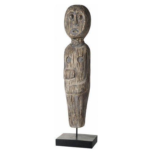Bella Casa Solitary Man Albasia Wood Decorative Stand