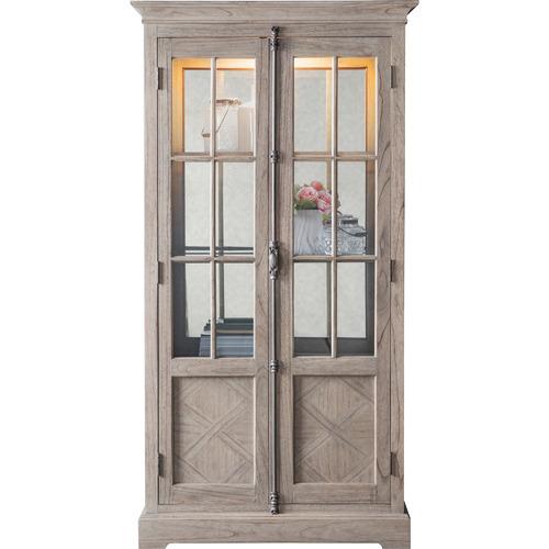 Bella Casa Sheffield Mindi Ash Wood Display Cabinet
