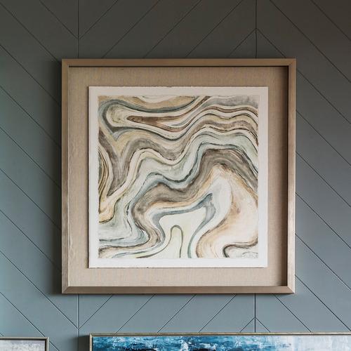 Bella Casa Arid Ocean Framed Printed Wall Art