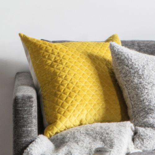 Bella Casa Diamond Moshino Quilted Velvet Cushion