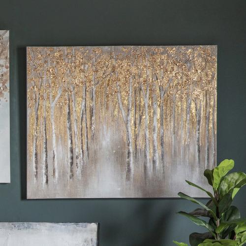 Bella Casa Golden Forest Canvas Wall Art