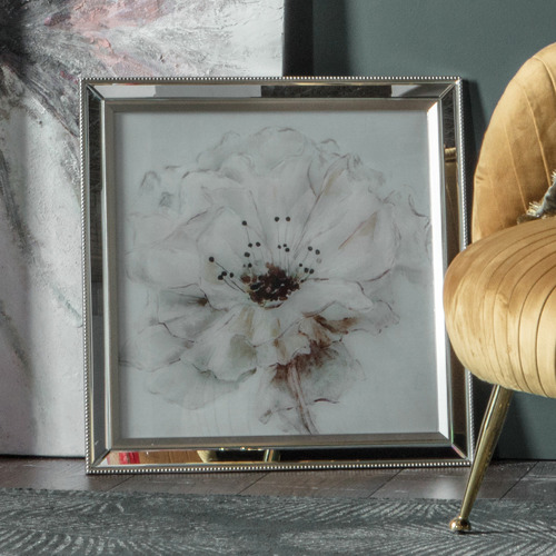Lace Framed Canvas Wall Art