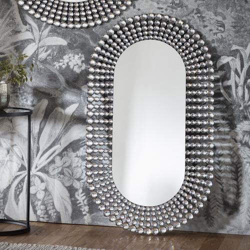 Bella Casa Silver Vance Decorative Mirror