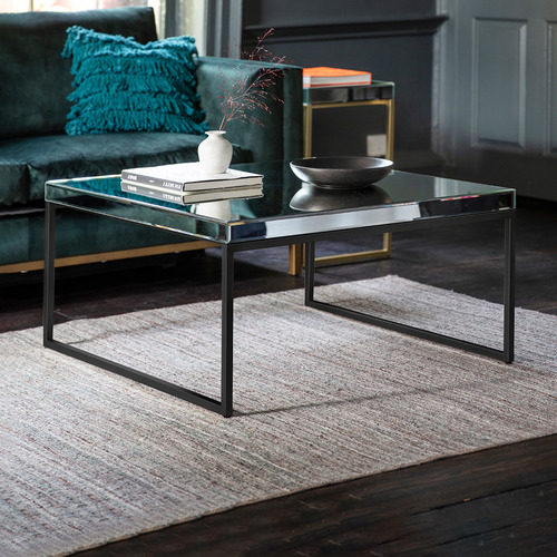 Bella Casa Perry Luxe Metal Glass Coffee Table Temple Webster