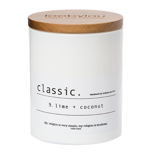 Loobylou Candles Classic No.9 Lime and Coconut Candle