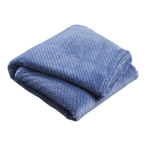 Denim Blue Popcorn Fleece Throw Rug Temple Amp Webster