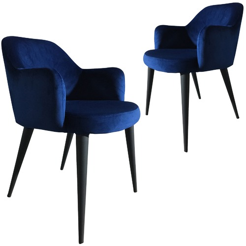 Purple Rain Terrazo Premium Velvet Dining Chairs