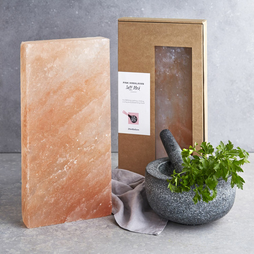 The Salt Box Pink Rectangular Himalayan Salt Block