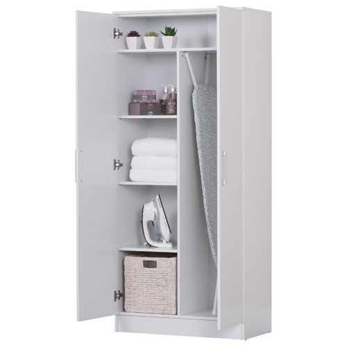 In Home Furniture Style White Multi Purpose Double Door