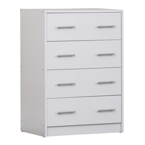 In Home Furniture Style White Riley Chest of 4 Drawers
