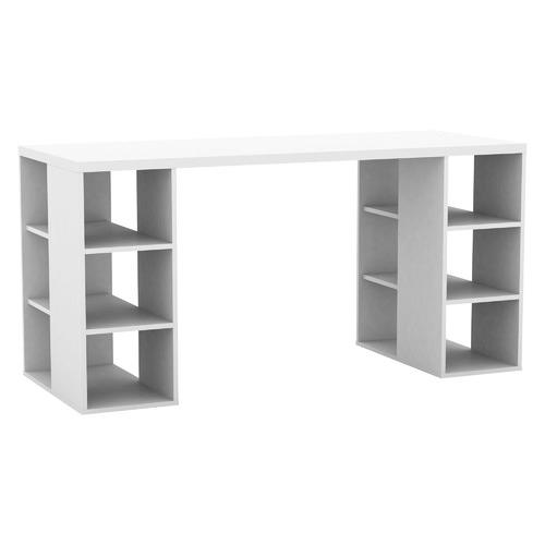 In Home Furniture Style Bloc Desk with Storage Shelves