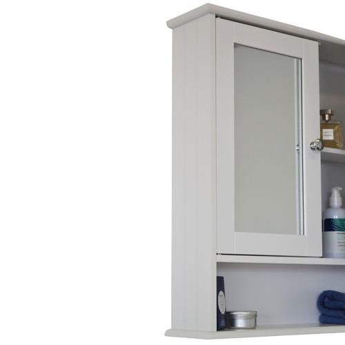 In Home Furniture Style Odessa Mirrored Double Door Bathroom Cabinet