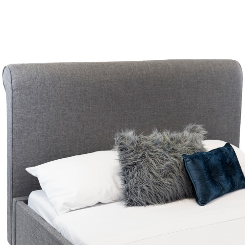 In Home Furniture Style Grey Isabella Free Standing Queen Bedhead
