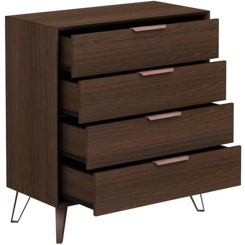 In Home Furniture Style Zelda Modern 4 Drawer Chest