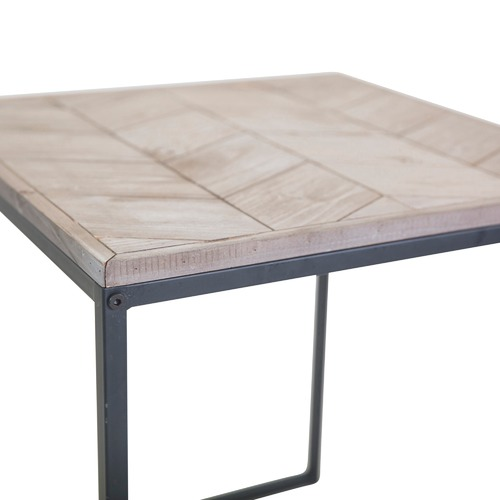 In Home Furniture Style Fir Wood Avoca Chevron Side Table
