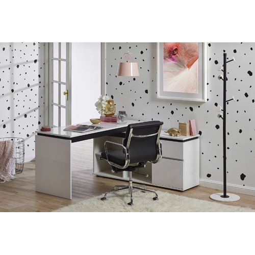 In Home Furniture Style Milano High Gloss Executive Desk