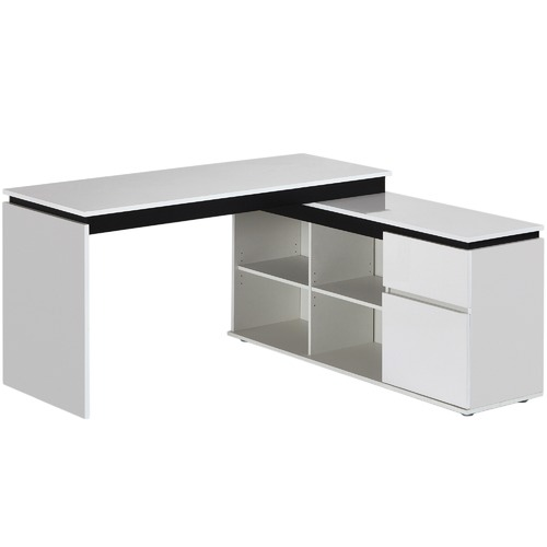 In home furniture style milano high gloss executive desk for Executive milano