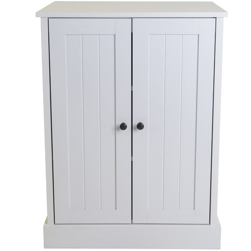 In Home Furniture Style White Hamptons Double Door Cupboard