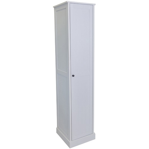 In Home Furniture Style White Hamptons 5 Tier Cupboard