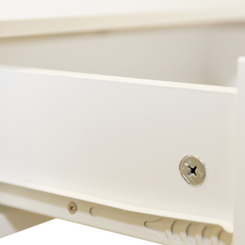 In Home Furniture Style White Long Island 2 Drawer Console Table
