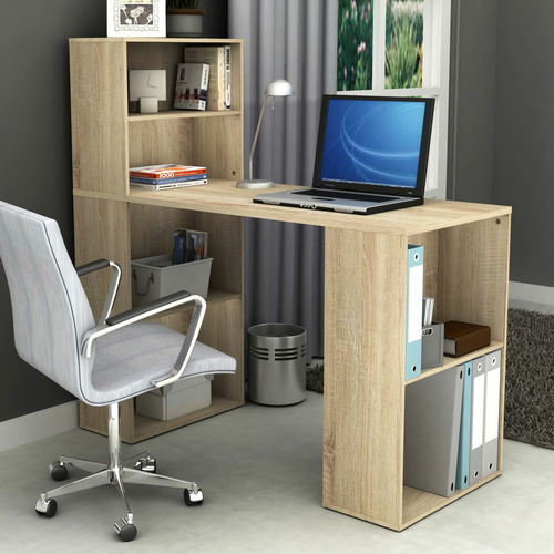In Home Furniture Style Baxter Office Desk with Shelves