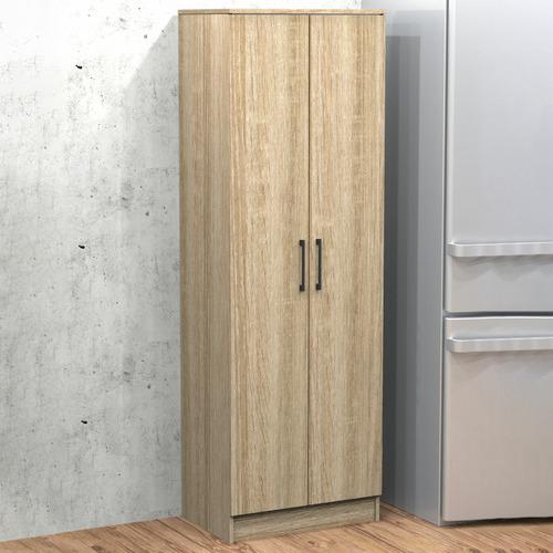White Multi-Purpose 5 Tier Double Door Cupboard