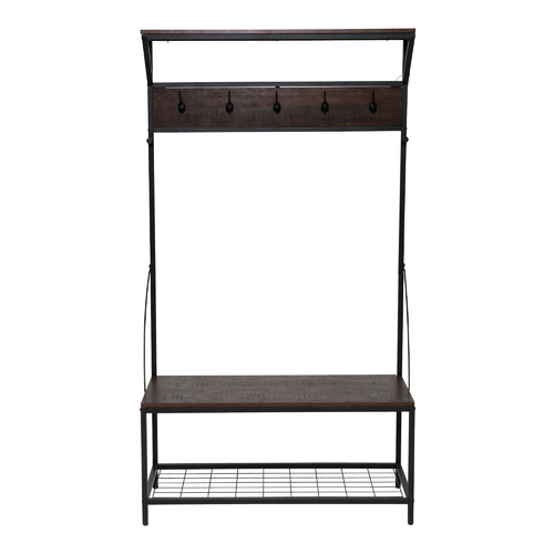 In Home Furniture Style Miller Industrial Hall Stand with Bench