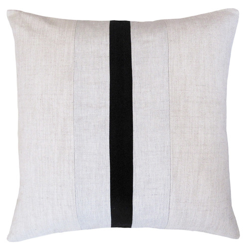 Zaab Homewares Ebony Chicago Linen & Cotton Cushion
