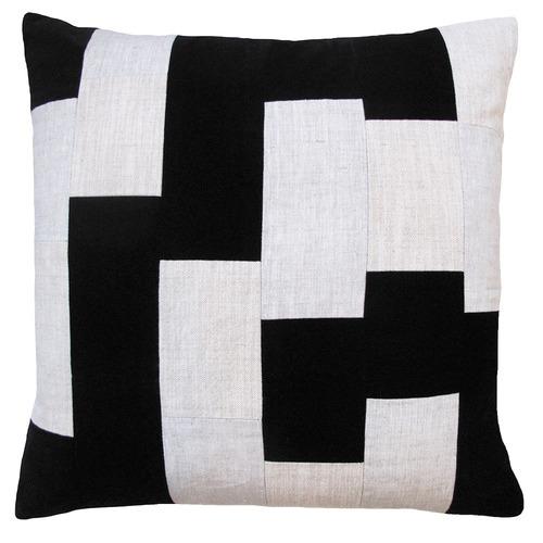 Zaab Homewares Ebony Dallas Linen & Cotton Cushion