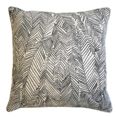 Filigree Tahiti Leaf Cotton-Blend Cushion