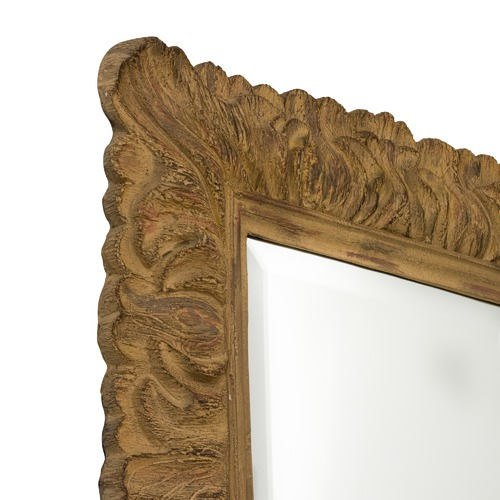 The Print Academy Hailey Distressed Leaf Wooden Mirror