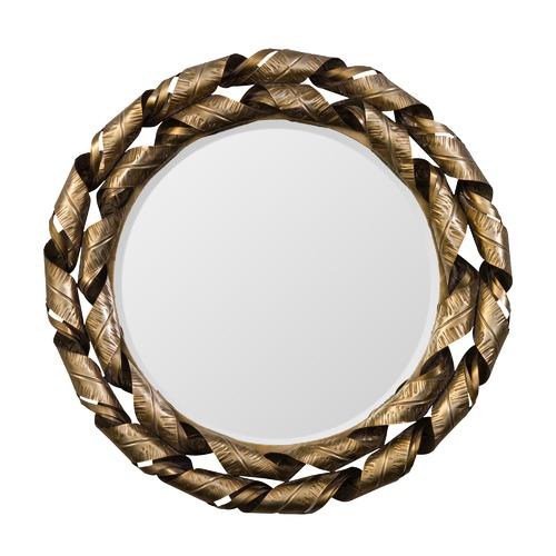 The Print Academy Silver Daphne Round Mirror