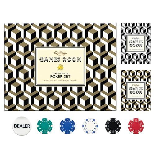 Ridley's Games Room Texas Holdem Poker Set