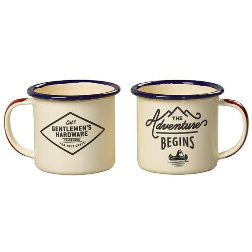 Gentlemen's Hardware Double Espresso Enamel 150mL Mug Set