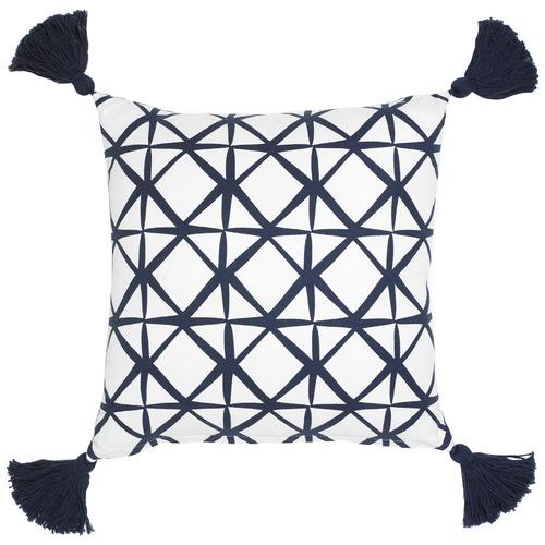 Maison by Rapee Isak Navy Cotton Cushion