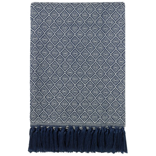 Maison by Rapee Atrani Navy Throw Rug
