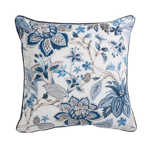 Maison by Rapee Printed Avignon Linen-Blend Reversible Cushion