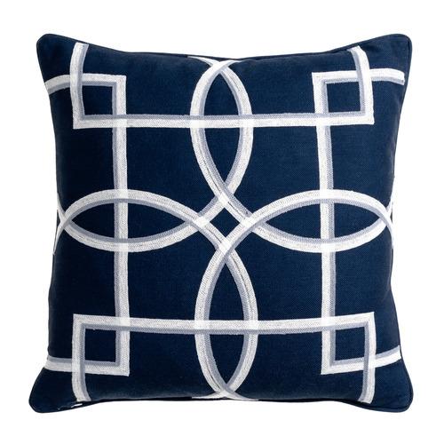 Maison by Rapee Navy Rue Reversible Cotton-Blend Cushion