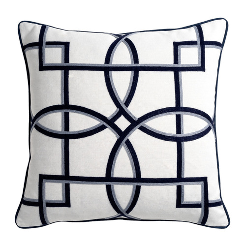 Maison by Rapee Navy Rue Reversible Cotton-Blend Cushion