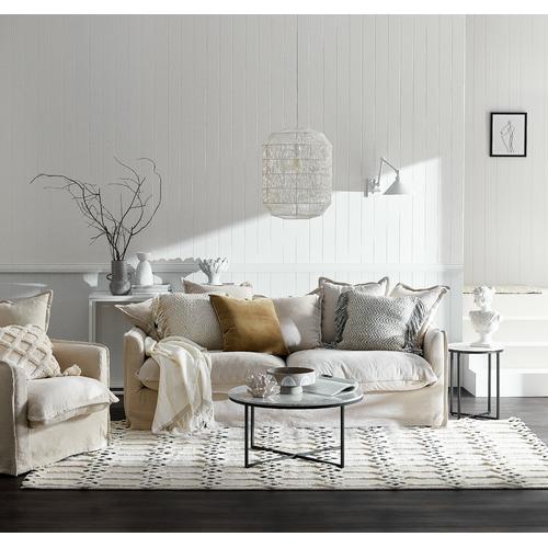 Maison by Rapee Zig Zag Weave Avery Tasselled Cushion