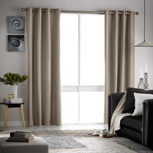 Basford Brands Casino Single Panel Eyelet Blockout Curtain